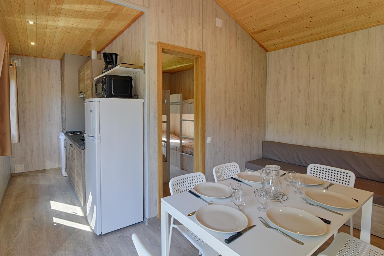 intérieur chalet camping de la trillonnière